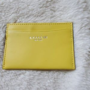 Coach Yellow Card Case